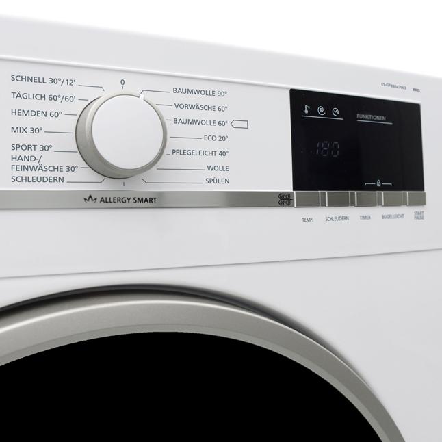 waschmaschine frontlader a sharp es gfb8147w3 de 8 kg. Black Bedroom Furniture Sets. Home Design Ideas