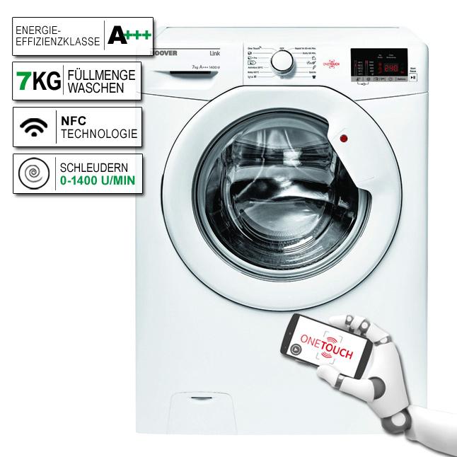 hoover hl4 1472d3 1 s frontlader waschmaschine eek a nfc technologie ebay. Black Bedroom Furniture Sets. Home Design Ideas