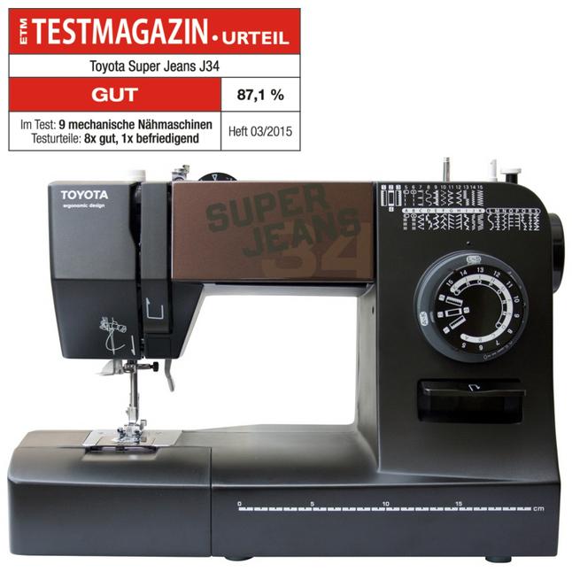 toyota super j34 n hmaschine super jeans 34 stichprogramme. Black Bedroom Furniture Sets. Home Design Ideas